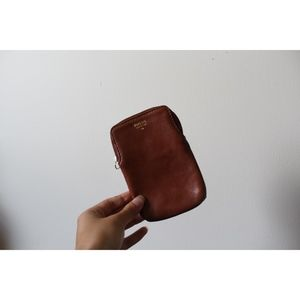 (60) Fossil Brown Leather Phone Case